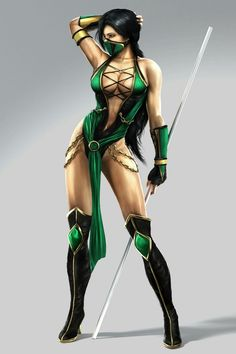 Jade from the Mortal kombat franchise. (actually from mk9)