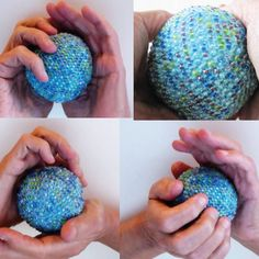 Relieve tensions with a soothing Beaded Stress Ball. Squish and roll this beaded ball around in your hands to provide relaxation and quick relief to stress, aching or stiff finger joints. Tiny pressure points of beads have a meditative quality.