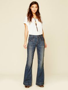 Free People Tailored Pocket Flare