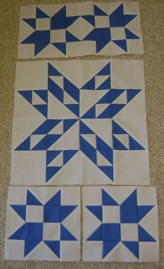 Northern Deb Quilts: Working on my Blue and White Star Sampler Quilt
