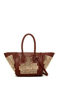 Pink Cosmo Pyramid Studs Tote
