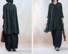 Linen Plus Size Shirt - - Buykud -