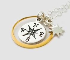 Hey, I found this really awesome Etsy listing at http://www.etsy.com/listing/101358367/sterling-silver-compass-necklace