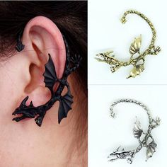 33d5a6e80244cc [30% OFF] GLOW in the DARK Dragon Cuff Earring. Bendable & Twistable Stud  Earrings | Products | Dragon ear cuffs, Cuff earrings, Earrings