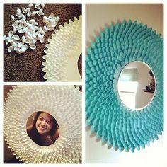 First blog post & my DIY sunburst spoon mirror :))))))))