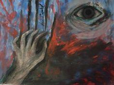 """Sensaciones II  """"Esquizofrenia"""" (pintura al frio,tempera-manos) por nadia"""
