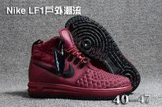 35c187b3a4a2 Men s Nike Lunar Force 1 Duckboot 17 KPU Burgundy Black 922807 701 Boys  Casual Shoes Nike