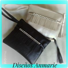 Bolsos sobres en semicuero... Embroidery Bags, Leather Belt Bag, Purses And Bags, Clutches, Vintage Outfits, Backpacks, Handbags, Sewing, Womens Fashion