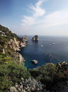 Faraglioni, Isola di Capri, Golfo di Napoli, Italia