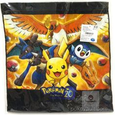 Pokemon Center 2017 Pikachu Charizard Lucario Ho-oh Piplup Movie Version Large Size Hand Towel