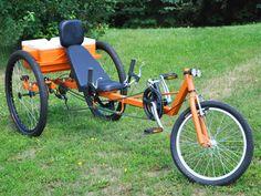 TimberWolf Recumbent Trike DIY Plan | AtomicZombie DIY Plans Trike Bicycle, Recumbent Bicycle, Bicycle Shop, Bicycle Parts, Timberwolf, Welding Rigs, Bicycle Components, Trailer Hitch, Bike Frame