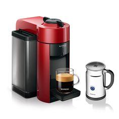 Personal Edge : Nespresso Evoluo GCC1-REPK Coffee Maker with Aeroccino Plus Frother