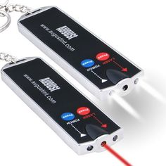 August FL601B Red Laser Pointer & LED Flashlight Keyring by August. $3.49. This August FL601 two-in-one red laser pointer and LED torch keyring is easy to use and carry.    It can be used as both a laser pointer for  presentations or an emergency light wherever you are...