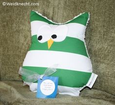 Willow Creek Studio Owl Pillows for Mothers Day ~ Planet Weidknecht