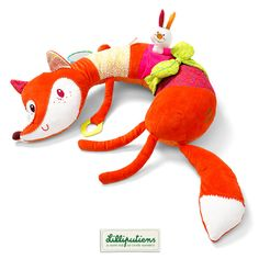Alice renarde d'activités calin - Lilliputiens - Cuddly Alice the fox activity cushion