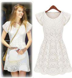 Morpheus Boutique  - White Lace Celebrity Sleeveless Pleated Dress