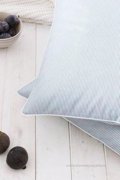 Kissen Stripes weiß-grau 50 x 50 cm