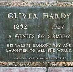 Norvell Hardy (Oliver Hardy) Comic Actor, 18 Jan 1892 - 7 Aug Died from stroke complications at 65 years (heavy smoker). Cremated and ashes buried in Valhalla Memorial Park Cemetery, Masonic Garden, Hollywood, California Cemetery Monuments, Cemetery Headstones, Old Cemeteries, Cemetery Art, Graveyards, Laurel And Hardy, Unusual Headstones, Famous Tombstones, Famous Graves