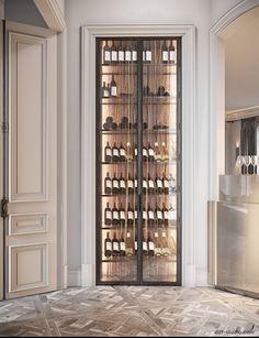 Studio › Fabulous story in Paris Wine Shelves, Wine Storage, Luxury Home Decor, Luxury Homes, Wine Cellar Modern, Home Wine Cellars, Cellar Design, Wine Wall, Suites