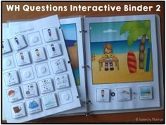 Speechy Musings: WH Questions Interactive Binder 2. Pinned by SOS Inc. Resources. Follow all our boards at pinterest.com/sostherapy/ for therapy resources.