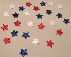 225 Star Confetti Red White and Blue Confetti by JBPartyCreations