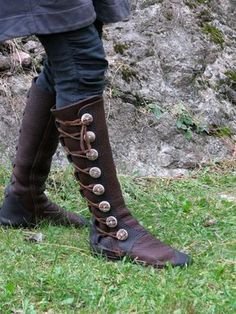 b1bdbd04ad6c Knee High Women s Boots - Custom Leather Moccasin - Designer Boots -  Buffalo   Antler Buttons
