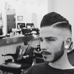 Black & White tribute to @schorembarbier Scumbag Boogie Cut by Kris Mendiola @thekrispbarber Styled with @suavecitopomade