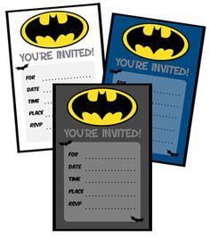 Batman Birthday Invitations to Print