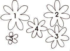 small flower pattern printable | Make a Spring Paper Wreath (tutorial)