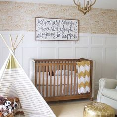 Loving the gold pops in this adventure-inspired nursery. And can anyone spot the adorable photobomb?!  via @brittaneykate!