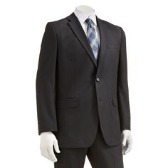 Men's Apt. 9® Extra-Slim Fit Striped Suit Jacket, Size: 44 - regular, Black