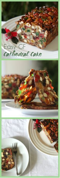 This easy to make fruit cake is a simple alternative to making a Christmas cake. It's called a cathedral cake because in the light a thin slice looks like a stained glass window - it looks stunning and tastes divine. It's also gluten and dairy free - not that you can tell. Click through for recipe. www.isleofflora.com