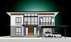 รหัสแบบ: MO-H2-BL2.296.14 บ้านสไตล์: แบบบ้านสองชั้น Modern    สเปคแบบขนาดพื้นที่ จำนวน: 2 ชั้นพื้นที่ใช้สอย: 296 ตารางเมตร ห้องนอน: 4 ห้องขนาดที่ดิน: 49 ตารางวา ห้องน้ำ: 4 ห้องที่ดินกว้าง: 14. เมตร ที่จอดรถ: 2 คันที่ดินลึก: 14. เมตร      ราคาก่อสร้าง 4.47 ล้าน: CON SPEC 5.71 ล้าน: METAL SPEC House Plans, Mansions, House Styles, Home Decor, Decoration Home, Manor Houses, Room Decor, Villas, Mansion