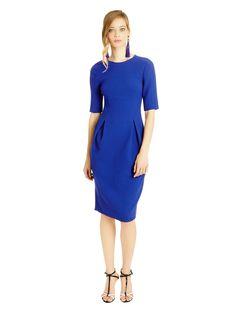 Oscar de la Renta - Lightweight Double-Face Wool Crepe Pencil Dress