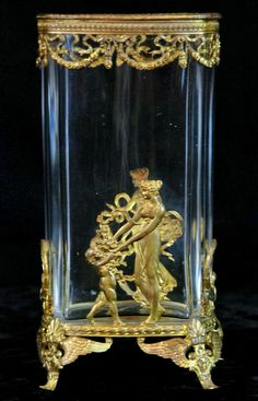 Empire bronze dore mounted crystal vase. http://antiqueelements.net/2012/03/01/ac377-empire-bronze-mounted-vase/