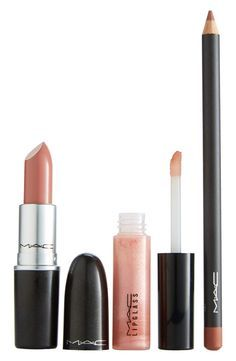 This M·A·C lip trio is the perfect kit for a statement pout in modern neutrals. / @nordstrom #nordstrom .
