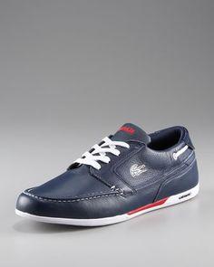 0ddbcd5074 Dreyfus Boat Sneaker by Lacoste at Neiman Marcus. La Perla
