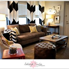 Chevron curtains...really want these for dining and living room!!!