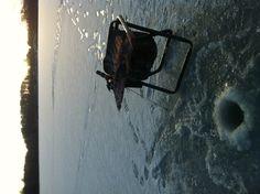 Ice fishing in Michigan.