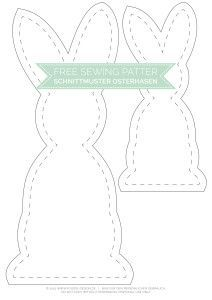Gratis Schnittmuster Osterhase - Free Sewing Pattern | www.youdid-design.de