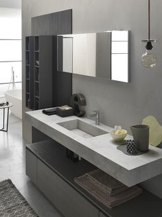Mobiletto per bagno grande Bathroom Design Luxury, Bathroom Design Small, Modern Bathroom, Home Interior Design, Black Bathrooms, Bathroom Toilets, Bathroom Renos, Bathroom Furniture, Bathroom Cabinets