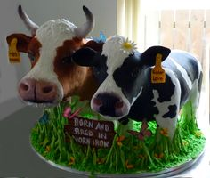 "This would be the best ""cake"" for my birthday! These cute pair were made from rice crispy cereal covered in chocolate!"