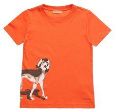 Boys Orange Jersey Greyhound T-Shirt 36.00 £ - Trussardi