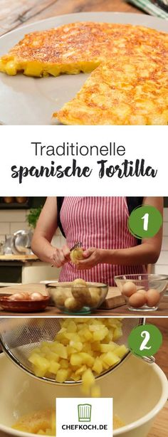 Traditionelle spanische Tortilla potato al horno asadas fritas recetas diet diet plan diet recipes recipes Chefs, Food Tags, Breakfast Potatoes, How To Cook Potatoes, Spanish Food, Pasta Carbonara, Tortillas, Potato Recipes, Breakfast Recipes