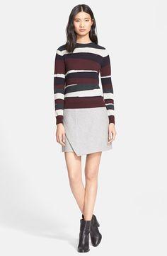 Carven Broken Stripe Merino Wool Sweater available at #Nordstrom