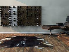 Stylishly Displaying Your Growing Wine Collection : STACT Modular Wine Wall - wine rack wine display Modular Wine Wall Wine Rack Wall, Wine Wall, Wall Racks, Modern Wine Rack, Wall Storage Systems, Modular Storage, Storage Units, Storage Ideas, Wine Bottle Storage