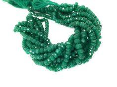 "Emerald Beads, Natural Emerald Beads, Gemstone Beads, Wholesale Beads, Jewelry Supplies, Jewelry Making, Beading Supplies, 13.5"" Strand"