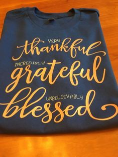 Excited to share this item from my shop: Thankful/grestful/blessed/Christian t-shirt/ Christian apparel/ Faith/ soft t-shirts/ soft christian apparel/ Christian t-shirts/ Jesus Informations About Thankful Shirt Christian Clothing, Christian Shirts, Christian Apparel, Fall Shirts, Cute Shirts, Pretty Shirts, Cute Shirt Designs, T Shirt Designs Inspiration, Blessed Shirt