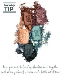 Try this handy #TuesdayTip to bring shattered eye shadows back to life!