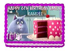 THE SECRET LIFE OF PETS CHLOE CAKE TOPPER EDIBLE BIRTHDAY DECOR * Find out more about the great product at the image link.  This link participates in Amazon Service LLC Associates Program, a program designed to let participant earn advertising fees by advertising and linking to Amazon.com.